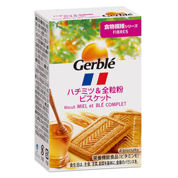 Gerble(ジェルブレ) ファイバー ハチミツ&全粒粉 ポケットサイズ 54g 18個入り×1ケース