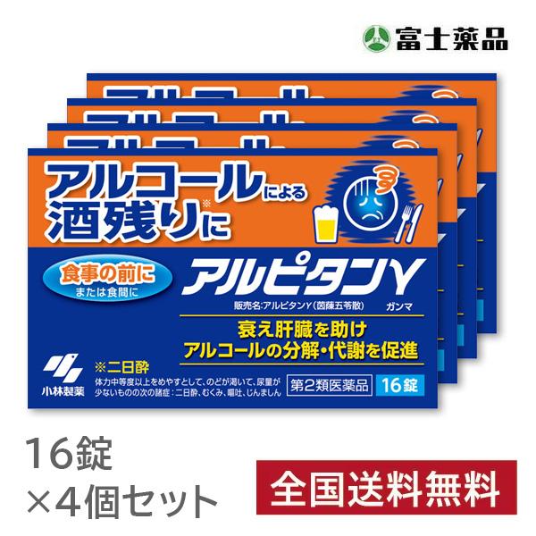 【第2類医薬品】小林製薬 アルピタン ガンマ 16錠×4個セット