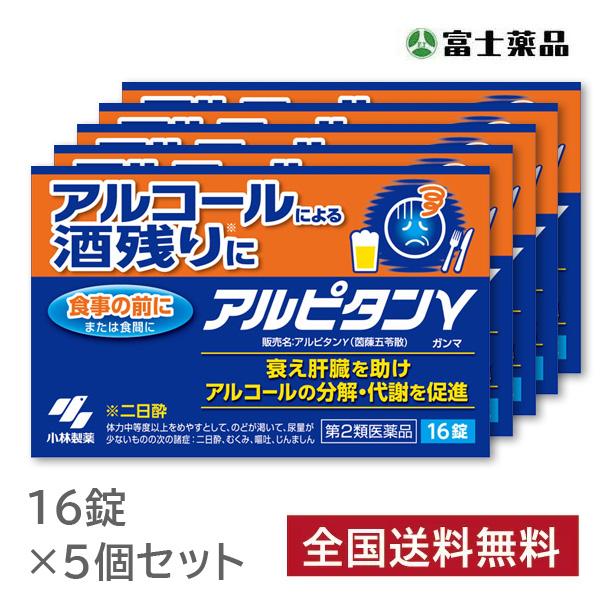 【第2類医薬品】小林製薬 アルピタン ガンマ 16錠×5個セット [週末目玉商品]