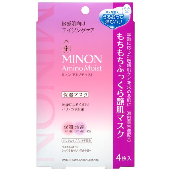ミノンアミノモイスト もちもちふっくら艶肌マスク 24ml×4枚