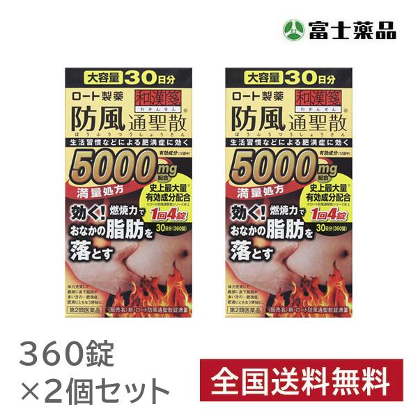 【第2類医薬品】新・ロート防風通聖散錠満量 360錠×2個セット