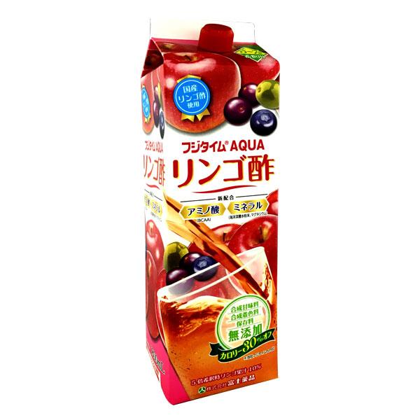送料無料 【定期便】富士薬品オリジナルりんご酢 フジタイムAQUA 1800mL