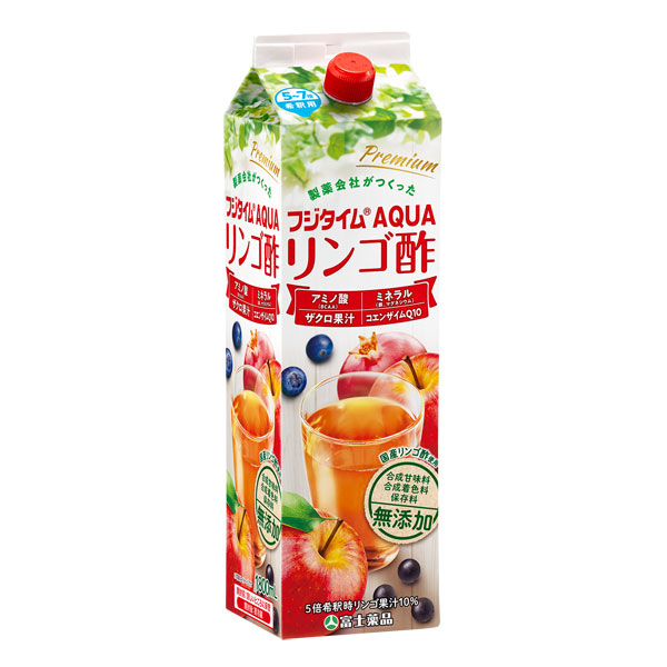 送料無料 富士薬品オリジナルりんご酢 フジタイムAqua 2021 1800mL リンゴ酢