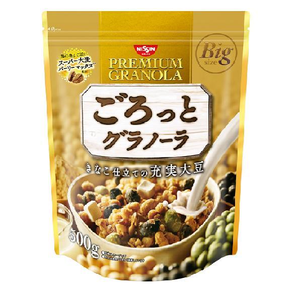 日清シスコ ごろっとグラノーラきなこ仕立ての充実大豆 12食入り×1ケース【クレジット決済のみ】(KT)