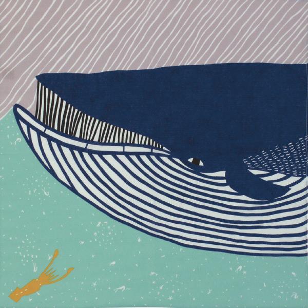 katakataむすび 綿風呂敷 約50cm/ナガスクジラ/M106-20011-103-104