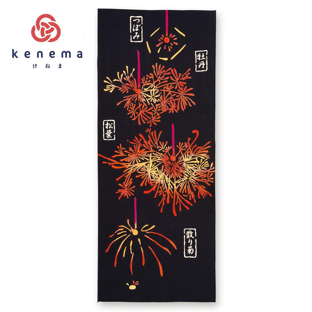 気音間 手ぬぐい 夏の風物詩/生涯の花/T099-50047