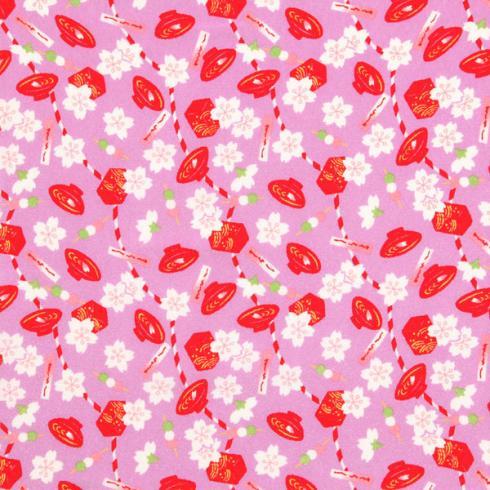 十二ヶ月小風呂敷 ポリエステルちりめん/約45cm/四月/花見/名入れ無料/C100-78001-04