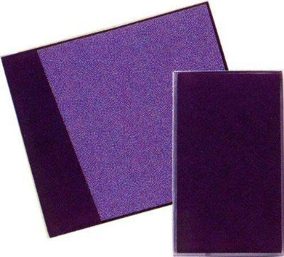 ちりめん裏鮫小紋 金封ふくさ 紫