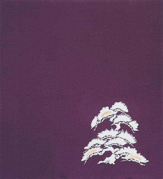 中包み風呂敷 正絹ちりめん引き染/若松/約100×100cm/S300-0830B