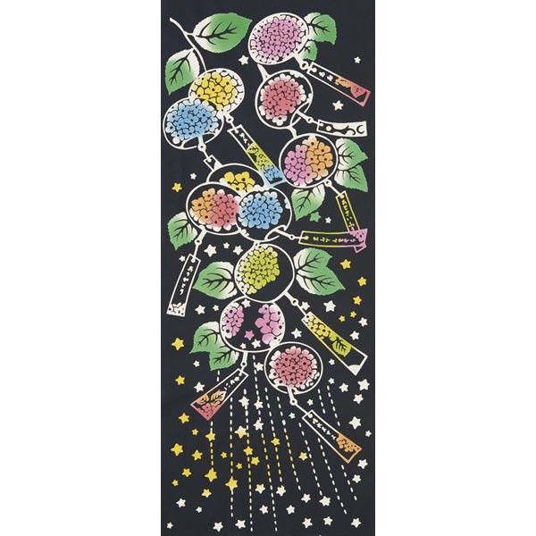 気音間 手ぬぐい 夏の風物詩/紫陽花風鈴(あじさいふうりん)/T099-51684