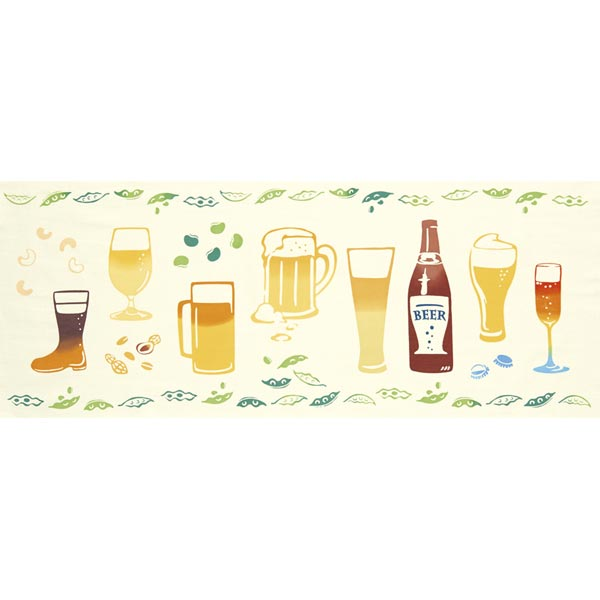 気音間 手ぬぐい 夏の風物詩/ビール/T099-51686
