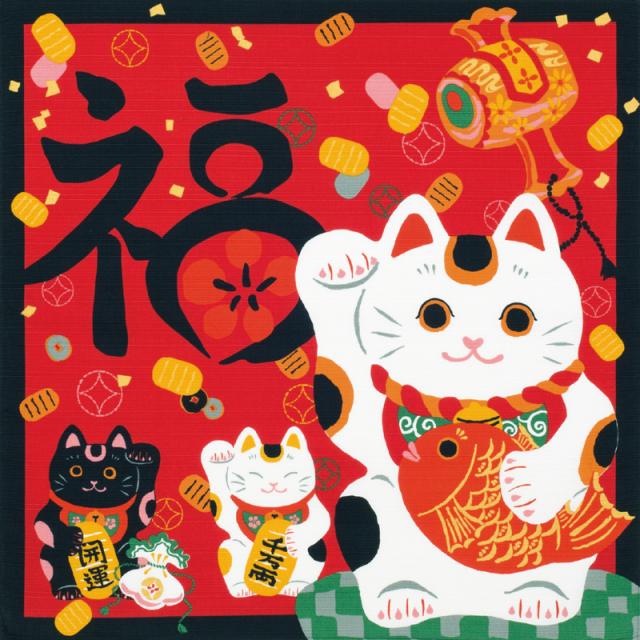 綿小 招き猫