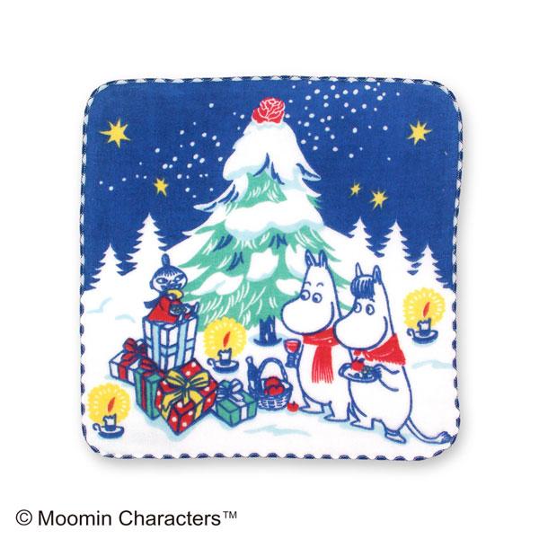ムーミン ガーゼハンカチ クリスマス