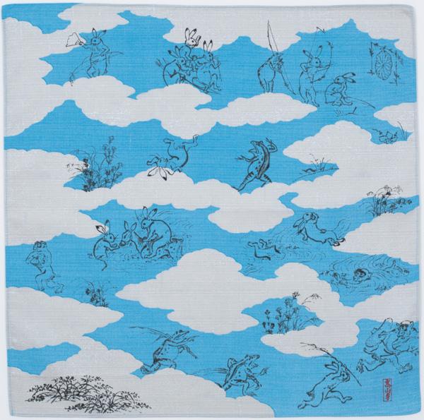 鳥獣人物戯画 雲取 ブルー