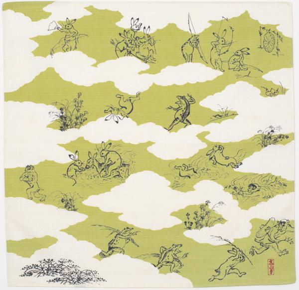 鳥獣人物戯画 雲取 グリーン