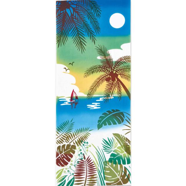 気音間 手ぬぐい 夏の風物詩/プライベートビーチ/T099-50041