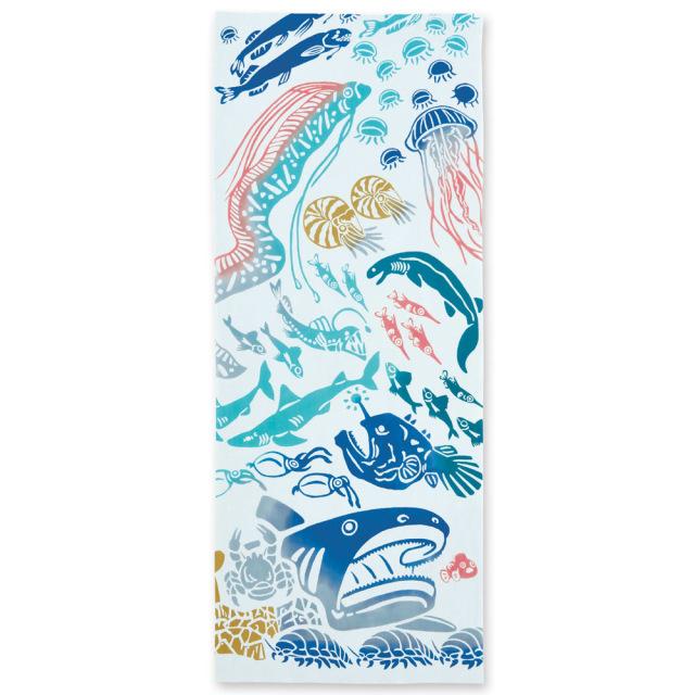 気音間 手ぬぐい 生き物/深海魚/T099-50050