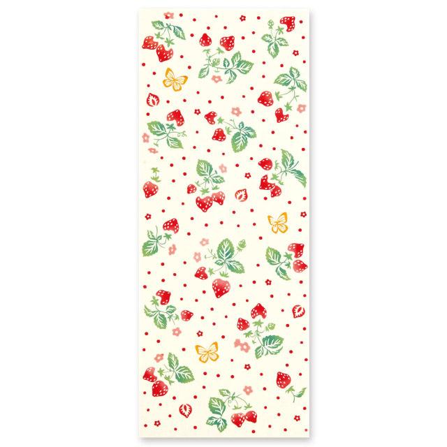 気音間 手ぬぐい 食べ物/苺摘み/T099-50053
