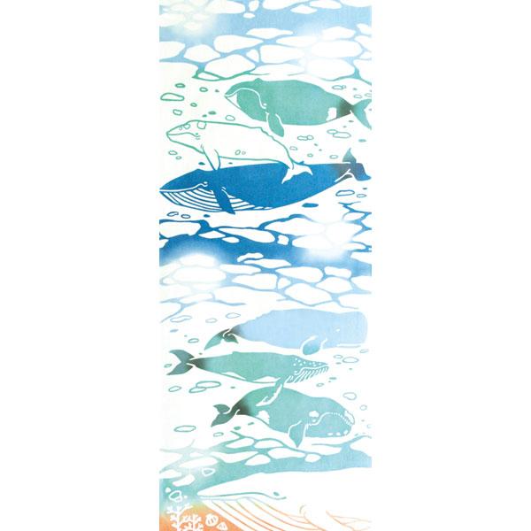 気音間 手ぬぐい 生き物/クジラ/T099-53316