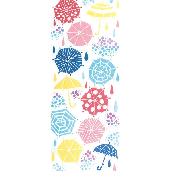 気音間 手ぬぐい 夏の風物詩/雨降り/T099-53338