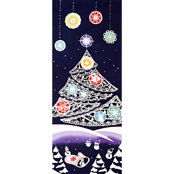 気音間 手ぬぐい クリスマス/Secret Tree/シークレットツリー/T099-53361