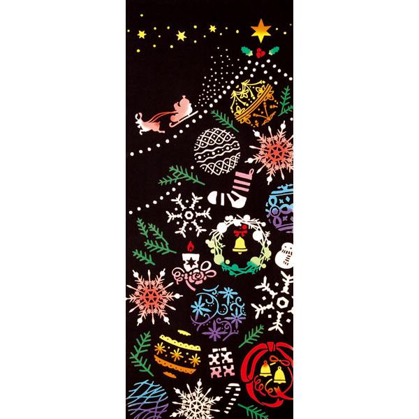 気音間 手ぬぐい クリスマス/Ornament Tree/オーナメントツリー/T099-53362