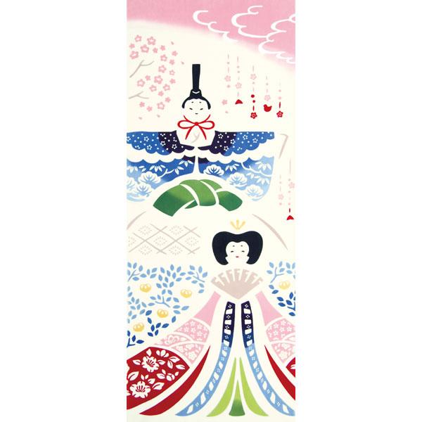 気音間 手ぬぐい ひな祭り/立雛/T099-54420