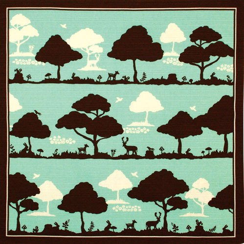 【残りわずか】気音間 綿小風呂敷 約50cm 森の仲間たち/M199-834511