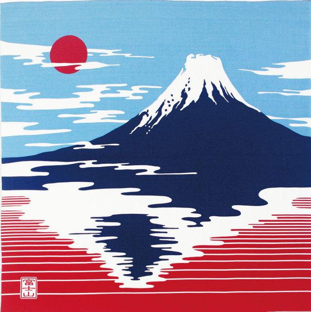 気音間 綿大風呂敷 約90cm 富士山/M399-83453