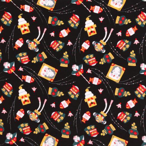 十二ヶ月小風呂敷 ポリエステルちりめん/約45cm/一月/正月/名入れ無料/C100-78001-01