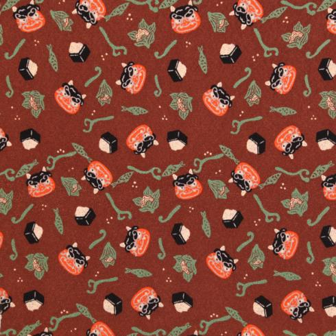 十二ヶ月小風呂敷 ポリエステルちりめん/約45cm/二月/節分/名入れ無料/C100-78001-02