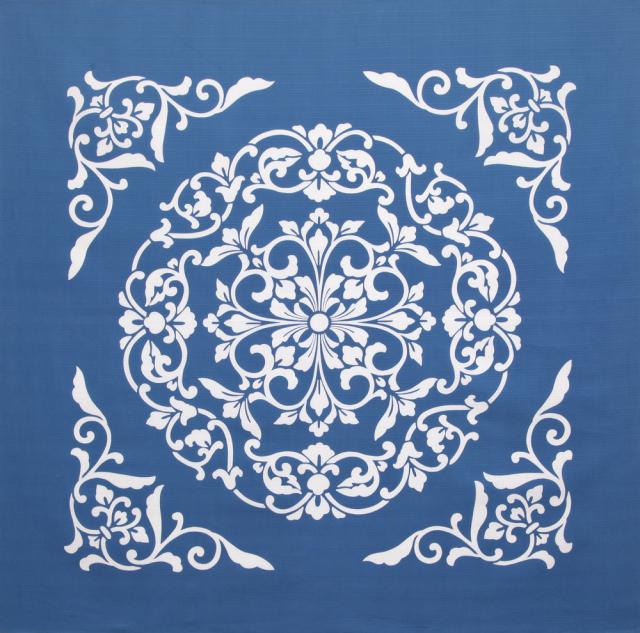 綿風呂敷 正倉院 ブルー