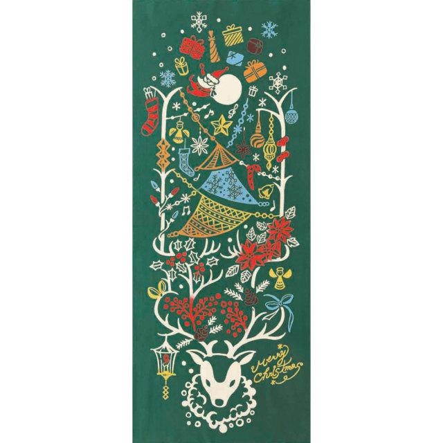 気音間 手ぬぐい クリスマス/トナカイルミネーション/T099-50022