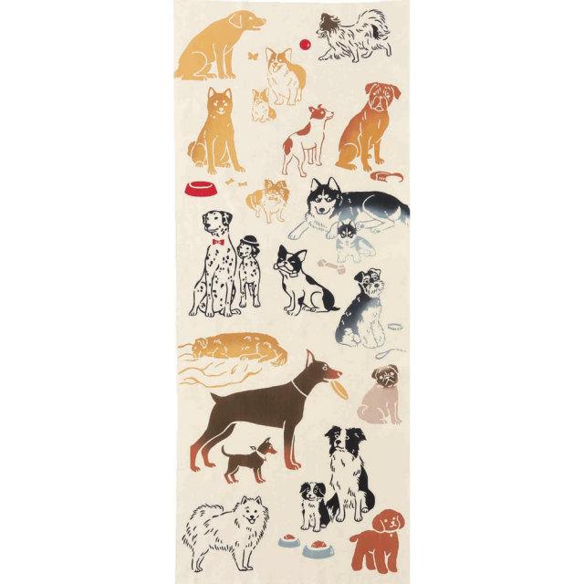 気音間 手ぬぐい 生き物/favorite Dog/フェイヴァリットドッグ/T099-50028