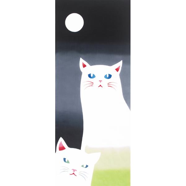 気音間 手ぬぐい 生き物/ねこ見々/T099-51665