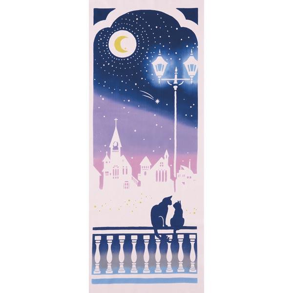気音間 手ぬぐい ひとひら浪漫/月夜のささめごと/T099-51694