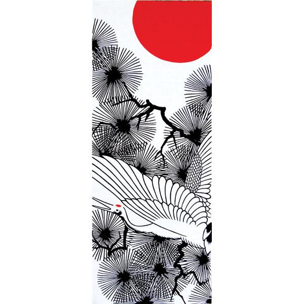 和布華 手ぬぐい 縁起/丹頂鶴/T098-271
