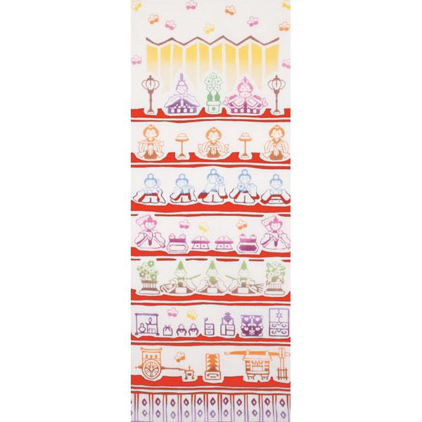 和布華 手ぬぐい ひな祭り/ひな壇飾り/T098-298
