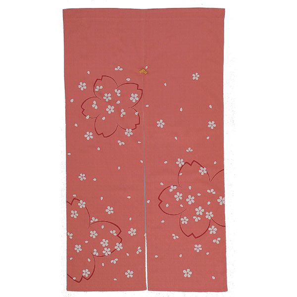 四季彩のれん 150cm 桜ちらし/N000-440