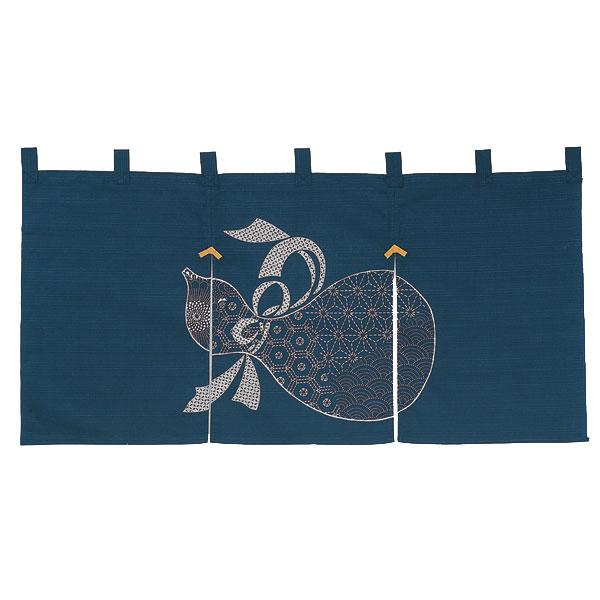 民芸調のれん 45cm ひょうたん/N000-685