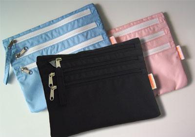 バッグの中の整理に活躍◆ブラック・パステルブルー・ピンク