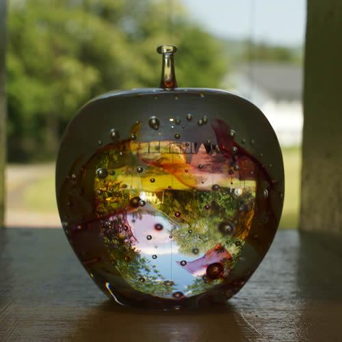 あづみ野ガラス工房りんごの結晶