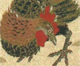 2017年 川島織物セルコン 唐錦織掛軸カレンダー「雄鶏」