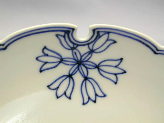 龍豊窯雪輪紋六寸皿