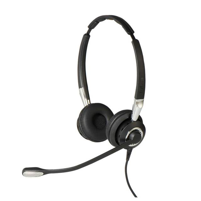 Jabra製ワイヤード(有線)ヘッドセット トップ部両耳タイプ Jabra BIZ 2400 II Duo NC W(2489-820-209)