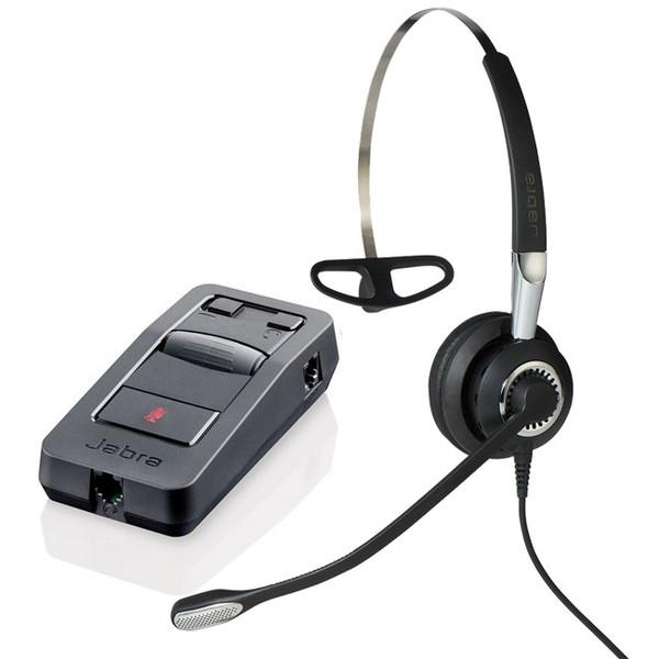 Jabra製ワイヤード(有線)ヘッドセット 片耳タイプ ヘッドセットパック オールインワンモデル(3点セット 電源アダプタ付き) Jabra BIZ 2400 II PACK(2402-850)