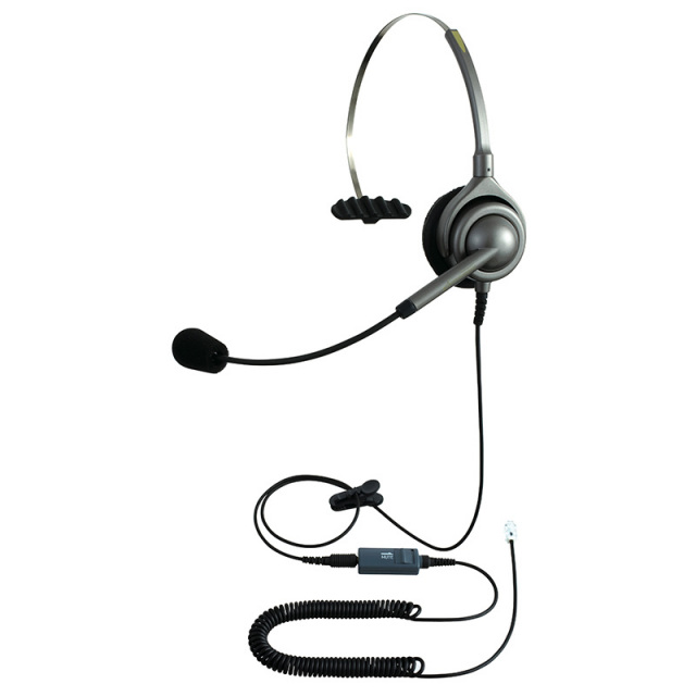 エンタープライズ製ヘッドセットパック片耳タイプ MC3接続コード(ミュートスイッチ付)
