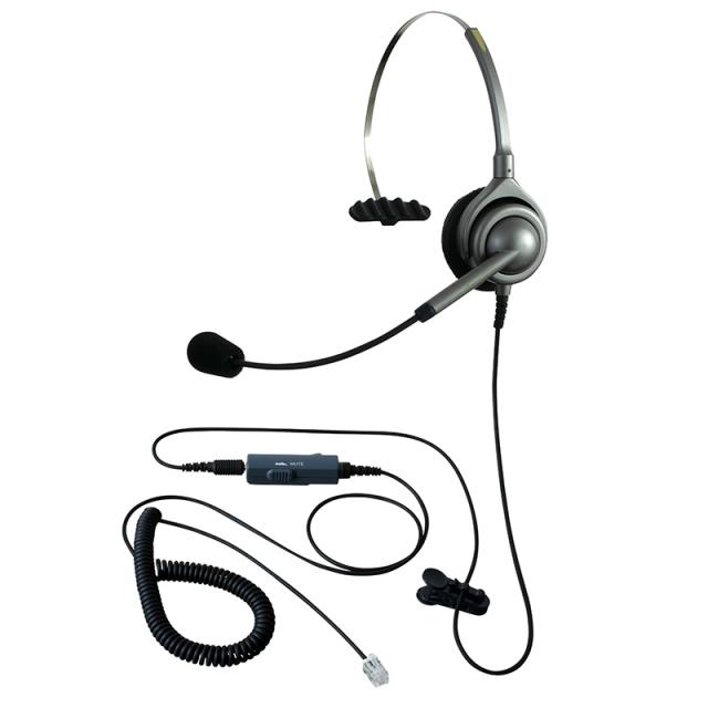 エンタープライズ製ヘッドセットパック片耳タイプ VMC3接続コード(ボリューム/ミュートスイッチ付)