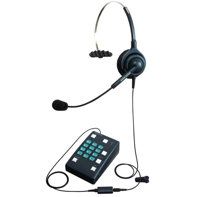 エンタープライズ製ブレステルパック片耳タイプ ヘッドセット型電話機(ヘッドセット + 電話機)
