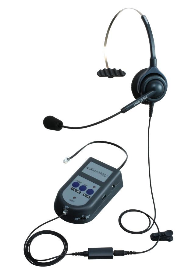 エンタープライズ製モジュラーS21パック片耳タイプ 一般電話機向け(アンプ接続)